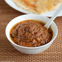Indian chutneys for doses, idlis, or adai. This is onion and chili chutney