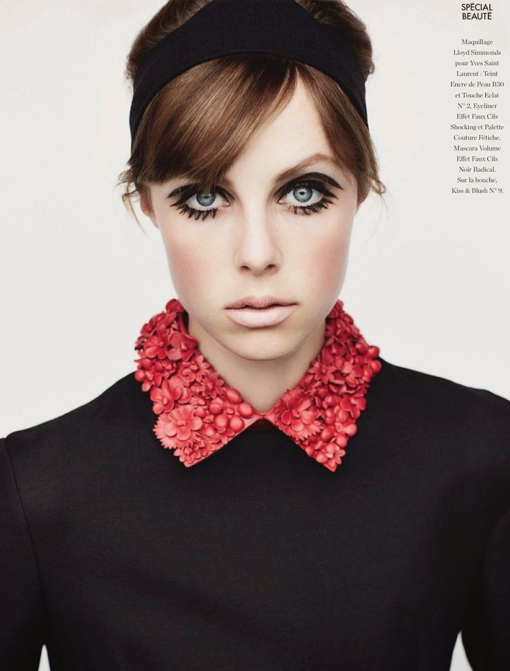 "Edie Campbell in Valentino by Liz Collins for Elle France ""Spécial Beauté"" September 2014 (n°3585)"