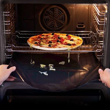 Oven liners to save having to clean the bottom of your oven - take them out and clean them instead! :D
