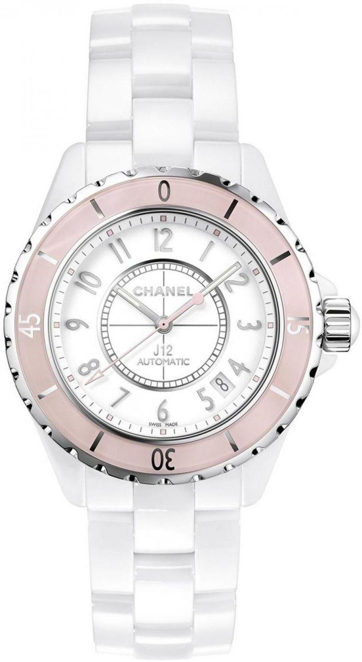 Chanel J12 White Soft Pink J12 - White Automatic - швейцарские женские наручные часы  - белые, розовые