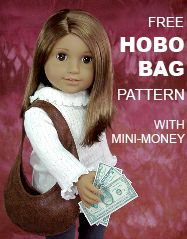 Doll Clothes Patterns: How to Find Tiny Materials | Doll Clothes Patterns. Sign up for free and get free hobo bag pattern & mini-money to print.