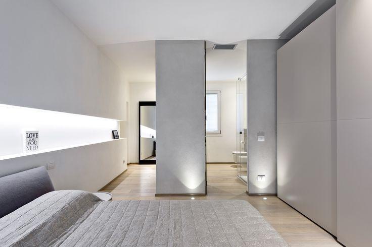 La camera da letto e il bagno padronale
