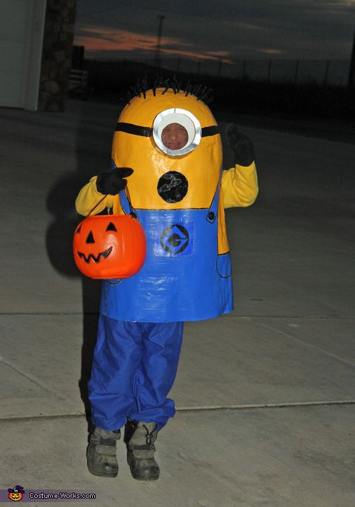 Brooke: My six year old son wore the minion costume this year for Halloween! My boys have always loved minions so I googled homemade minion ideas and went from there. I...