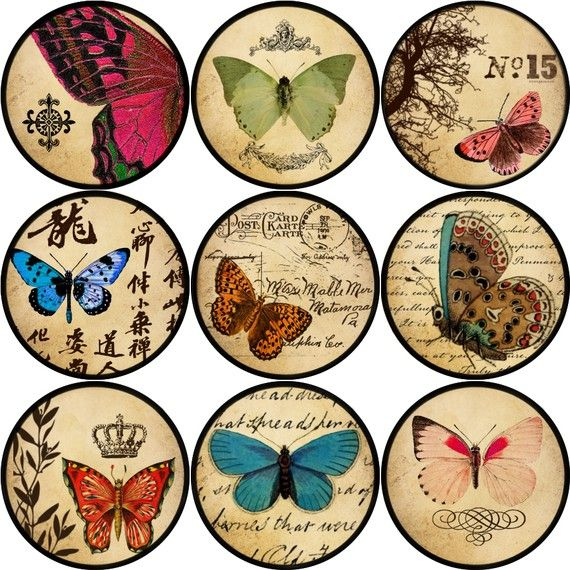 vintage butterflies and more printables.