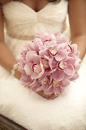 Pretty cymbidium orchid bouquet. Tropical weddings A Destination Wedding in Koh Samui, Thailand