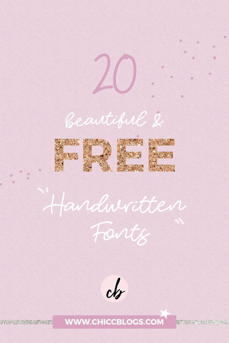 20 Beautiful & FREE Handwritten Fonts - Blog Post Chicc Blogs