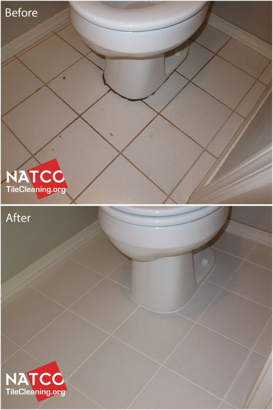 Cleaning And Colorsealing Urine Stained Grout And Caulk Around A Toilet