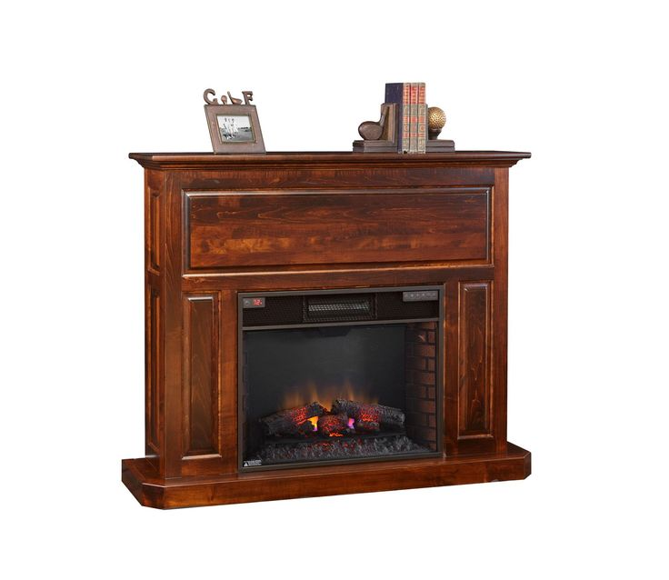 "Amish Fireplace Mantel with 28"" Insert"