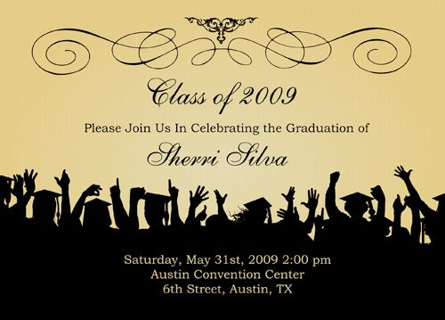 Best  Graduation Invitation Wording Ideas Only On