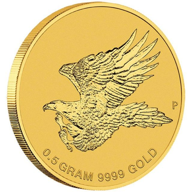 Australian Wedge-tailed Eagle 2015 0.5g Gold Coin  2015 eagle  discover gold coin  , Perth mint gold coin, gold coin ,gold,  gold coin