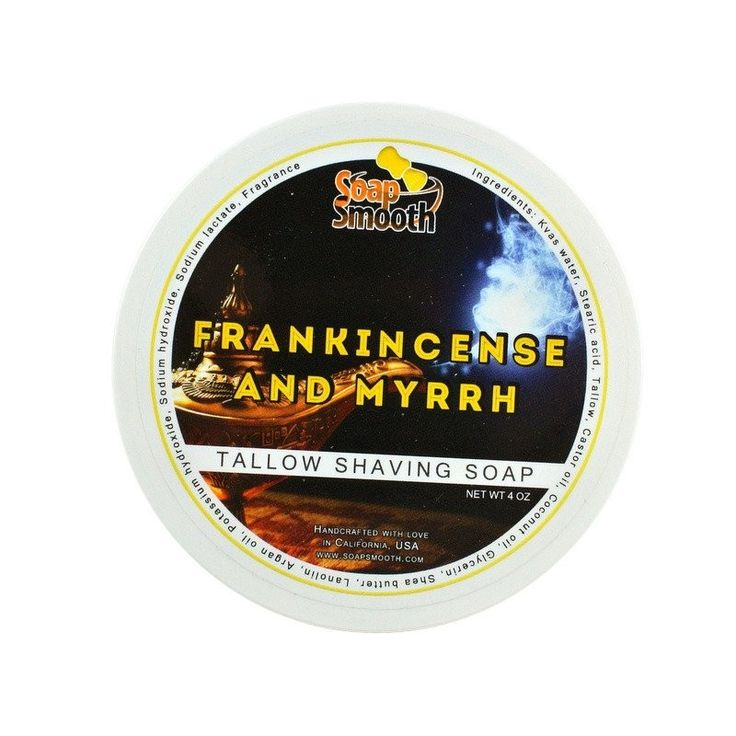 "Savon à raser ""Frankincense and myrrh"" de Soap Smooth"