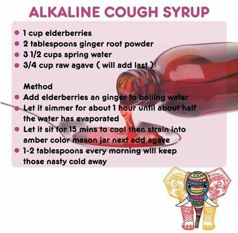 Dr. Sebi: Alkaline elderberry & agave cough syrup
