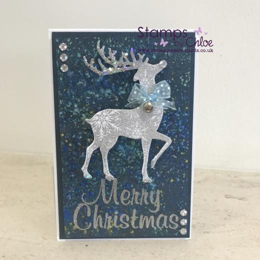 Stamps by Chloe - JUL034 Reindeer Duo - £7.99 - Stamps By Chloe Jul034 Reindeer Duo - Chloes Creative Cards