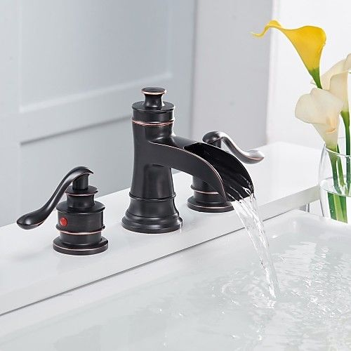 antique waterfall brushed centerset bathroom sink faucet in 2019 rh pinterest com