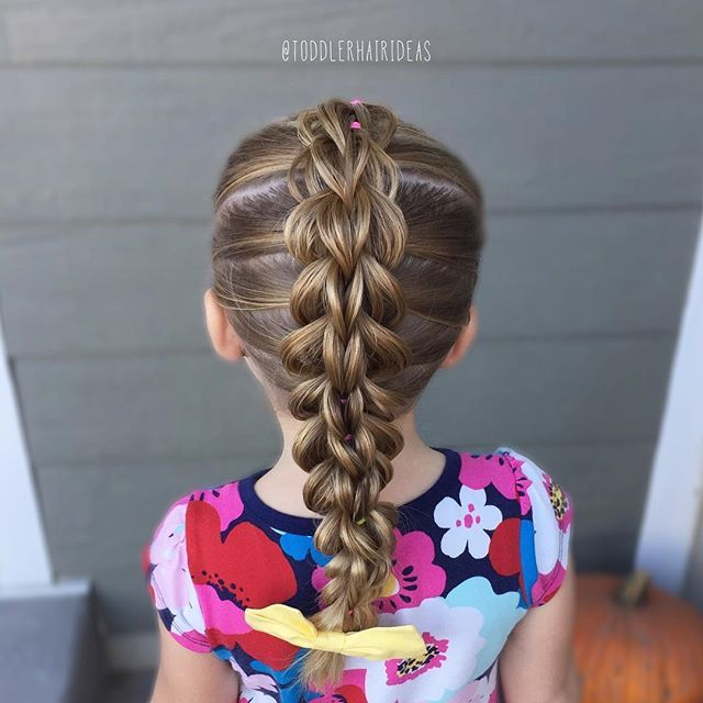3-strand pull-through braids are one of my all-time favorites, they are gorgeous and surprisingly easy! I filmed a tutorial today, I'll post it first thing tomorrow morning! Toddler hair ideas
