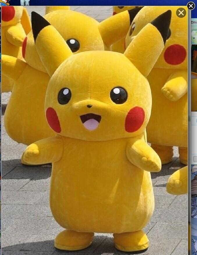 2017Top Grade Deluxe Pikachu Mascot Costume Cartoon Character Costumes Mascot Costume Fancy Dress Party Suit