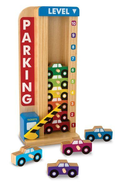 Melissa & Doug Stack and Count Parking Garage:Amazon:Toys & Games