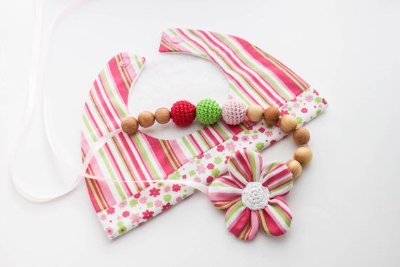 Girly Gift Set Nursing Necklace/Teething and Baby by CasaDeGato, $30.00