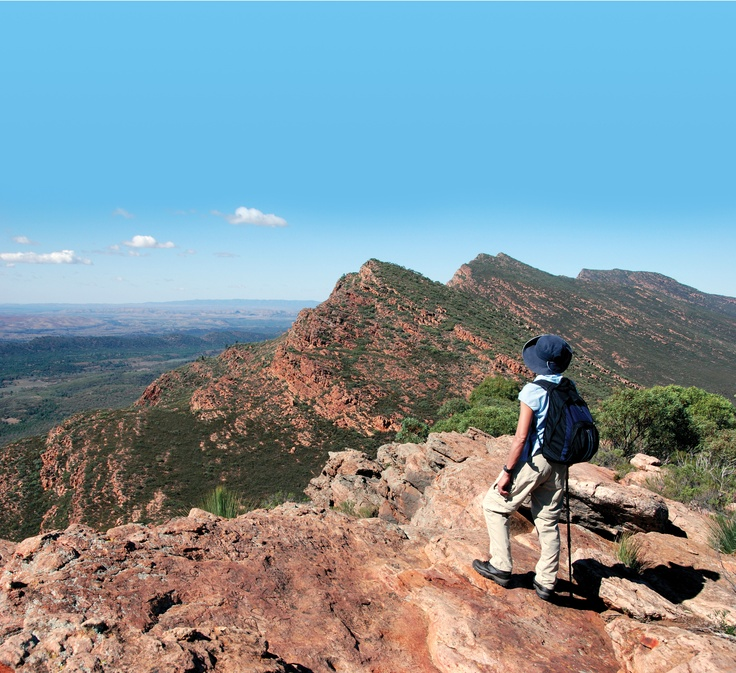 Hiking Wilpena Pound, Australia. Photo by Paul Lumbewe