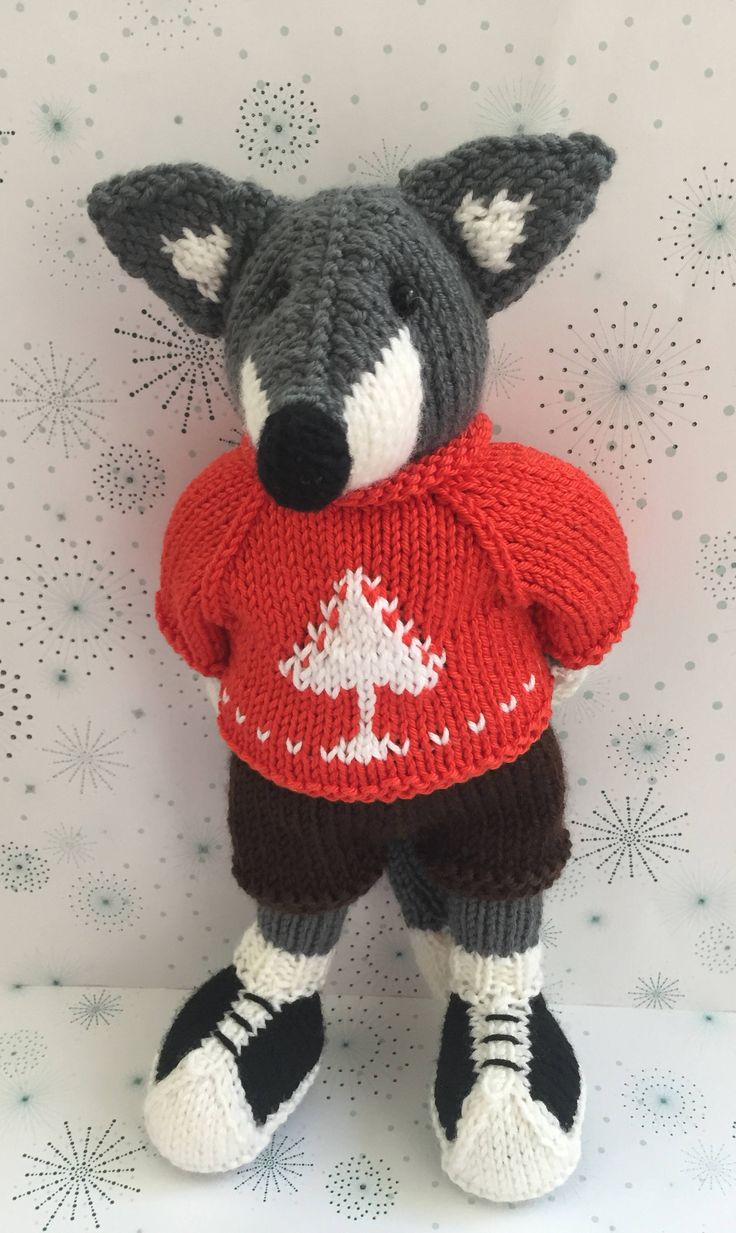 Excited to share the latest addition to my #etsy shop: Knitted fox