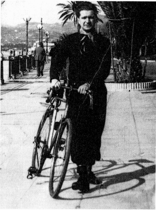 Cioran and his bike.