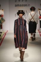 Pero by Aneeth Arora A/W 2015 - stripes, volume and boots ❤️