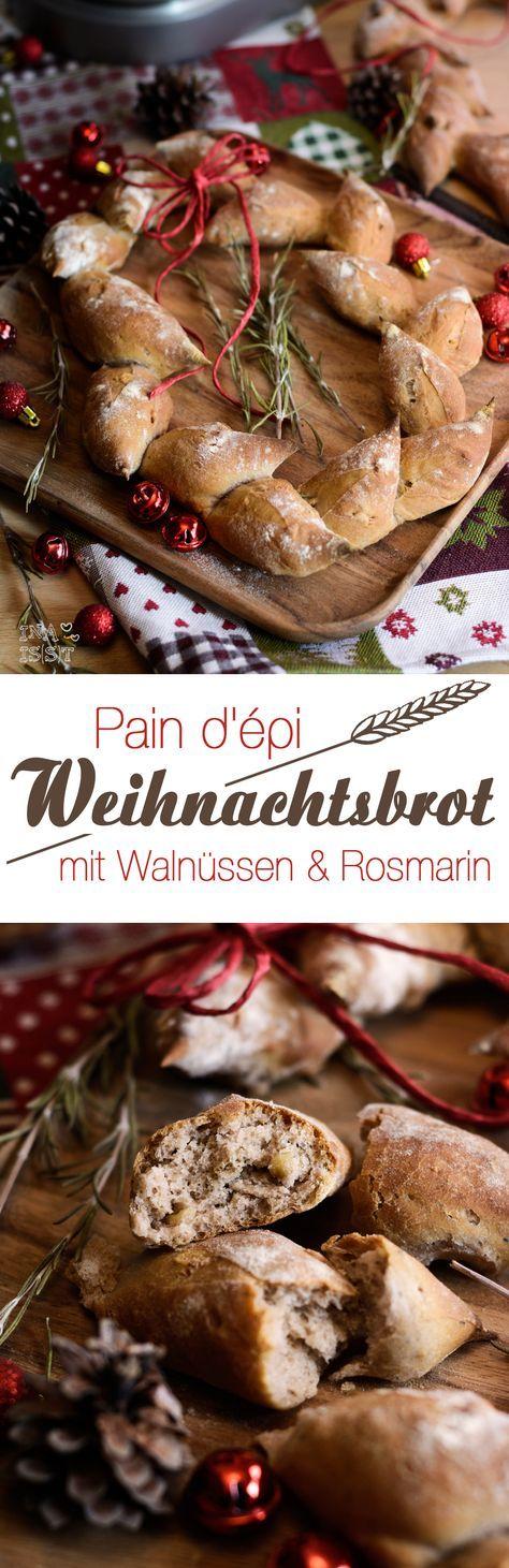 Pain d'épi - Weihnachtsbrot mit Walnüssen&Rosmarin /// Christmas bread with walnuts and rosemary