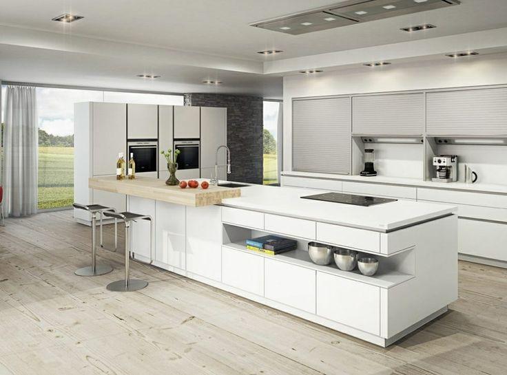 Espectacular cocina blanca con gola, para soñar, más info en www ...