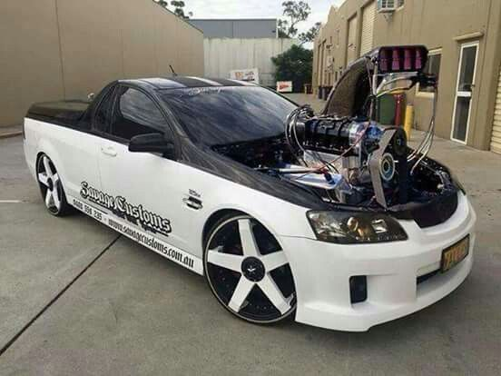 ◆ Visit MACHINE Shop Café... ◆ ~ Aussie Custom Cars & Bikes ~ Blown Holden Commodore Ute