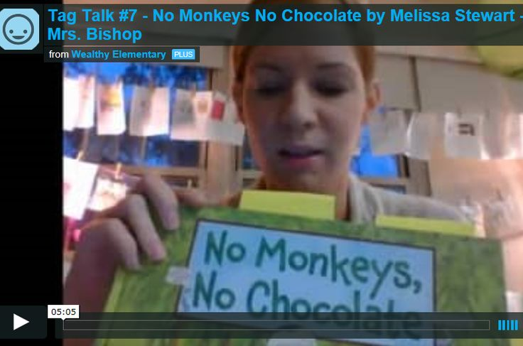 No Monkeys, No Chocolate video book talk by Mrs. Bishop, Wealthy Elementary School, East Grand Rapids, MI https://vimeo.com/141536737