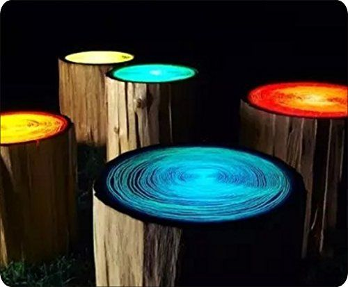 How To Make Glowing Tree Stump Stools | The WHOot