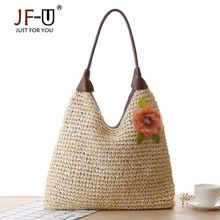 Like and Share if you want this  JF-U Summer Flower Large Tote Bags For Women Pattern Women Straw Bag Dual Band Handbag Lady Woven Beach Bag Girl Shoulder Bag     Tag a friend who would love this!     FREE Shipping Worldwide     Get it here ---> https://fatekey.com/jf-u-summer-flower-large-tote-bags-for-women-pattern-women-straw-bag-dual-band-handbag-lady-woven-beach-bag-girl-shoulder-bag/    #handbags #bags #wallet #designerbag #clutches #tote #bag