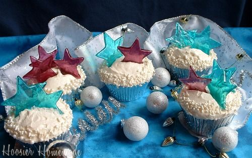 New Years Eve Cupcakes with Champagne Buttercream