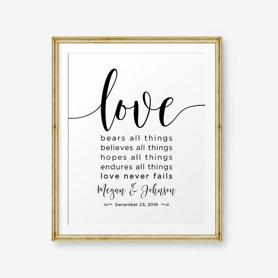 Amore sopporta tutte le cose, crede ogni cosa, spera ogni cosa, sopporta ogni cosa. Amore non manca mai -1 Corinzi 13:7