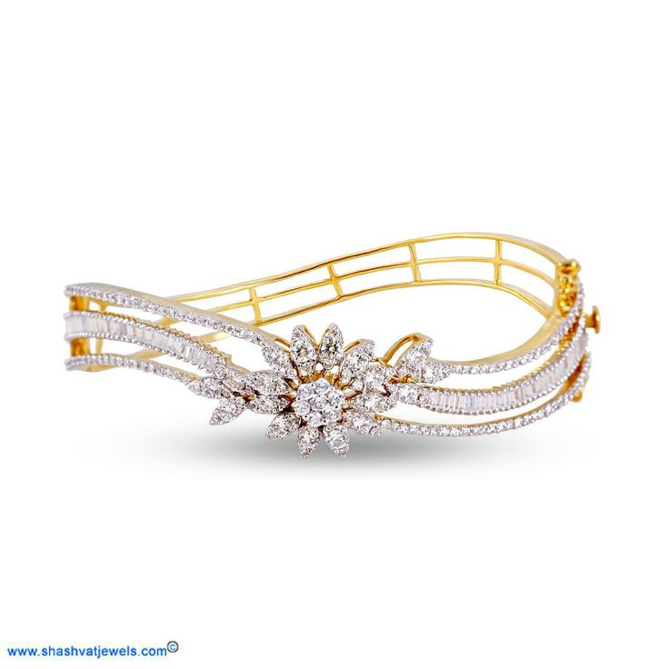 rubyshire cut products bangles diamond in grande gold round tone yellow bracelet acfd