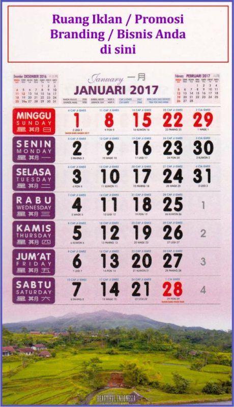 Kalender Kerja 2017 Desain Exclusive 2017 Pemandangan Alam Indonesia