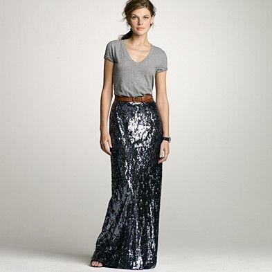 JCrew Sequin long skirt - don't know if I could pull this off, but I'd love to try