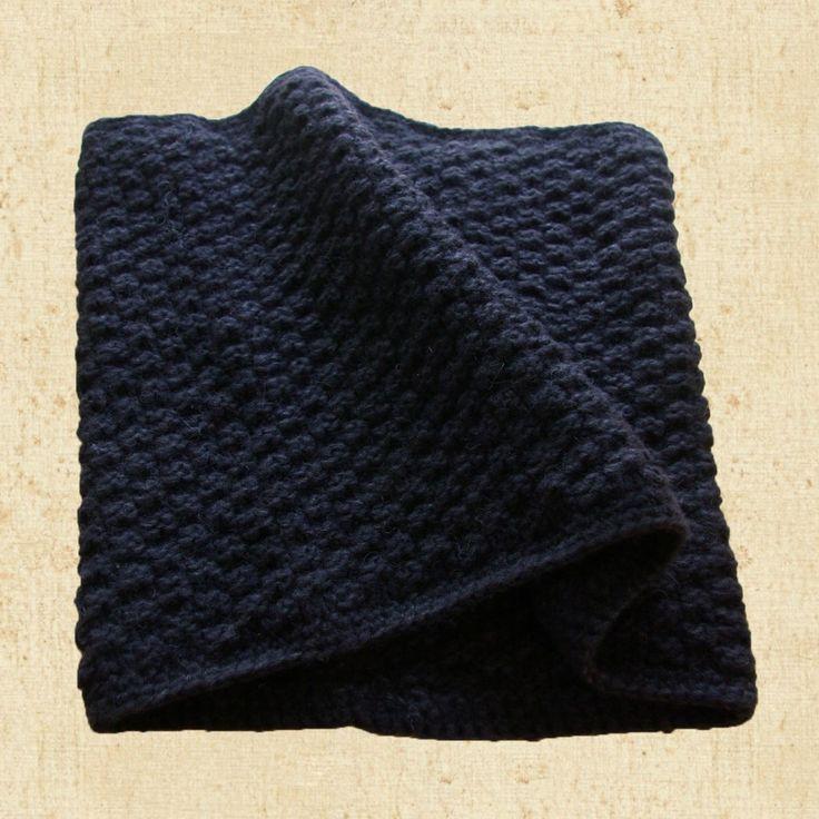 Loop-Schal-stricken-Anleitung-kostenlos-Loop-Schal-die-Erste-schwarz-Perlmuster Kopie Kopie