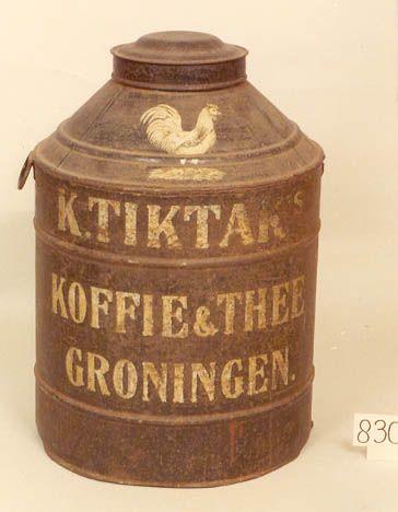 Ronde grote bus voor koffie & thee van K.TIKTAK GRONINGEN