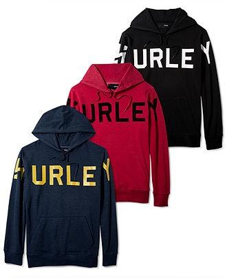 Hurley Sweatshirt, Read Me Pull Over Hoodie - Mens Hoodies & Track Jackets - Macy's