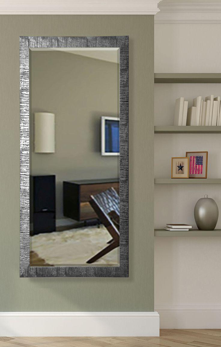 Denver tall wall mirror body mirror safari and silver for Large body mirror