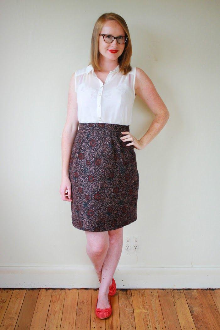 Jennifer Lauren Vintage: Me Made Maternity - Week 20: If the Skirt Fits...