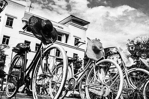 Old bike old city