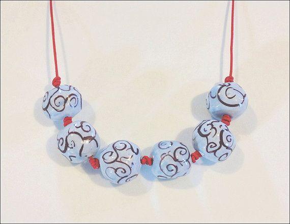 Dramatically blue and shiny handmade beaded by IoannasVeryCHic,
