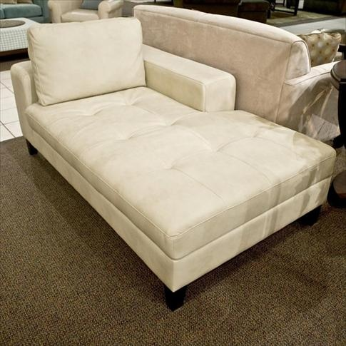 chaise lounge in a reading nook area