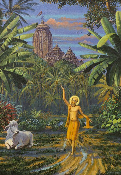 Chaitanya Mahaprabhu In Jaganath Puri Print By Vrindavan Das