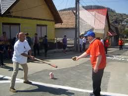 "This tradition, called ""Ţuru"" is actually a game similar to oina, which has been played in Mediaş, Sibiu, since 1850. If you're in town, be sure to watch the game this Sunday!"