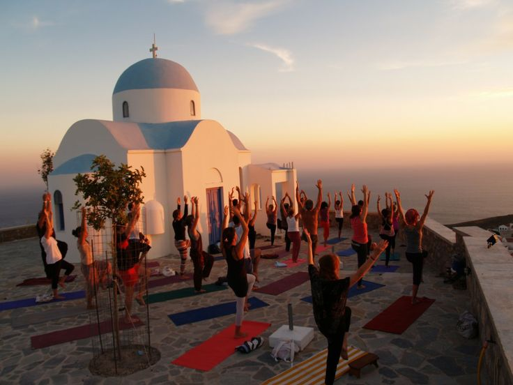 Sunnah Rose's week-long yoga holiday to the small Greek island of Amorgos - Led by Sunnah and co-instructor Eunice Laurel, the week ran to a comfortingly regular schedule. Mornings and late afternoons are for yoga. Breakfast is taken as a group and then the days are yours to either hang out with fellow participants or enjoy time alone. On the last morning we hiked around the coast for a final, memorable, yoga lesson on an outdoor platform overlooking the sea.