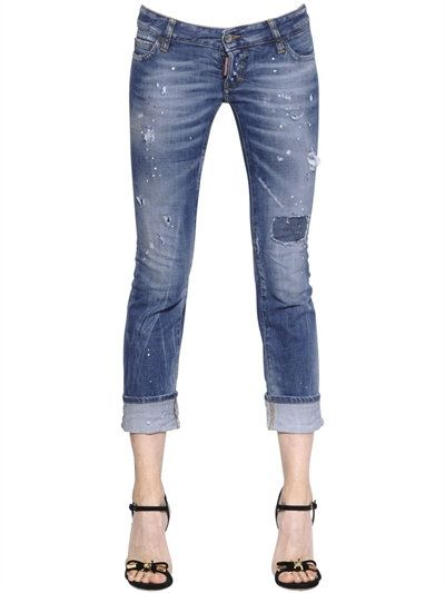 Sexy Rolled Up Stretch Denim Jeans DSquared2 #women #fashion  Source: http://www.closetonthego.com/e-shop-product/217567/sexy-rolled-up-stretch-denim-jeans/ © Closet On The Go