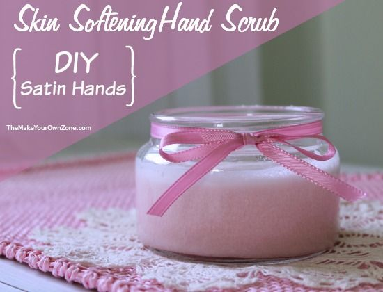 Make your own skin softening hand scrub like Satin Hands